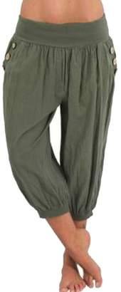 Wenko Joe JWK Womens Yoga Trousers Jogger Harem Solid Capri Plus Size Pants XXL