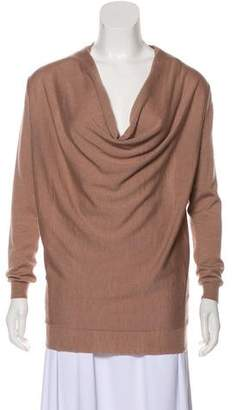 Lanvin Wool-Blend Off-The-Shoulder Long Sleeve Sweater