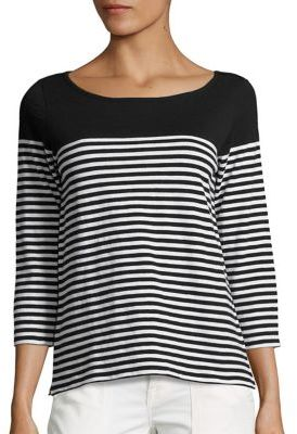 Joie Soft Joie Adlai Striped Tee $148 thestylecure.com