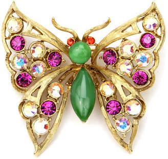 Ben-Amun Crystal Butterfly Brooch