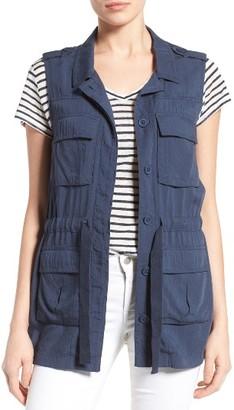 Petite Women's Caslon Soft Utility Vest $79 thestylecure.com