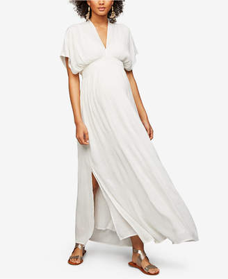 Ella Moss Maternity V-Neck Maxi Dress