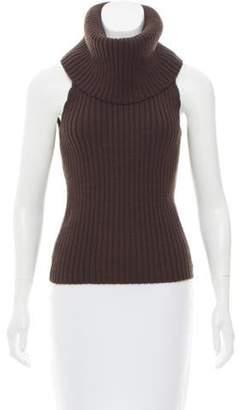 Michael Kors Cowl Neck Wool Top brown Cowl Neck Wool Top