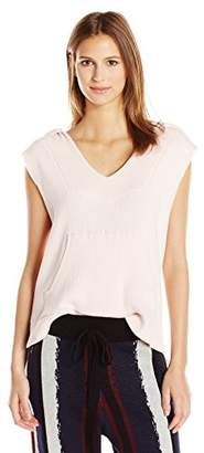 Baja East Women's Cotton Stretch Rib Baja Pullover