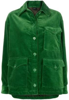 Aspesi corduroy oversized shirt jacket