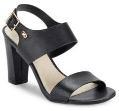 Cole Haan Octavia Block-Heel Leather Sandals