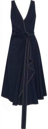 Derek Lam 10 Crosby Belted Cotton-Poplin Wrap Midi Dress