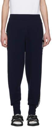 Stella McCartney Navy Cashmere Intoxication Side Band Lounge Pants