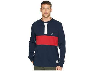 Nautica Long Sleeve Woven Color Block