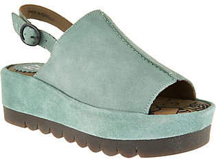 Fly London Leather Platform Sandals - Bora