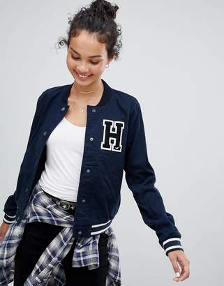 Hollister varsity jacket