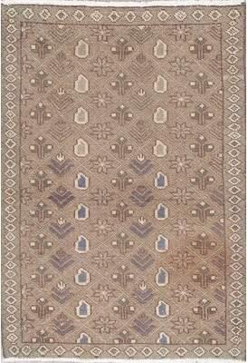"Bloomsbury Market Balfor Vintage Light Brown Geometric Persian Rug Distressed Kitchen Carpet 4'2""X2'11"" Bloomsbury Market"