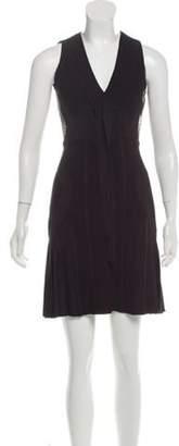 Elie Saab Knit Pleated Dress Black Knit Pleated Dress