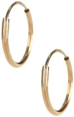 Candela 14K Yellow Gold Endless 10mm Hoop Earrings
