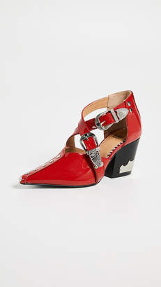 Toga Pulla Heeled Buckled Pumps