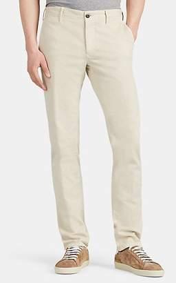Incotex Men's Flat-Front Cotton Slim Chinos - Pearl
