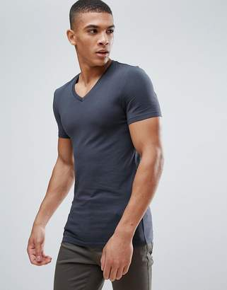 Asos DESIGN Extreme Fitted Fit T-Shirt With V Neck And Stretch