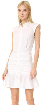 Veronica Beard Ruched Shirtdress
