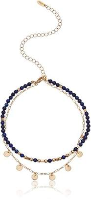 Ettika Womens and Gold Beaded & Chain Choker Necklace