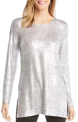 Karen Kane Metallic Knit Tunic