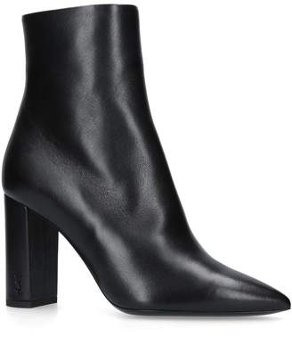 Saint Laurent Leather Betty Ankle Boots 95