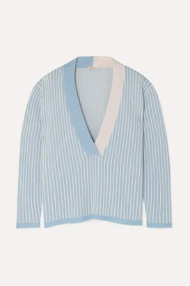 Morgan Lane - Eddy Striped Cashmere Sweater - Blue