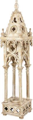 BEIGE Uma Enterprises Tall Vintage Cathedral Lantern Candle Holder