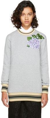 Dolce and Gabbana Grey Floral Sweatshirt