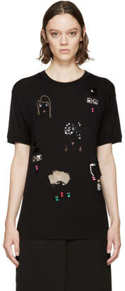Lanvin Black Embroidered T-Shirt