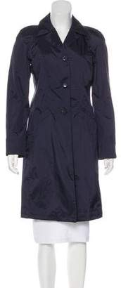 Giorgio Armani Button-Up Knee-Length Coat