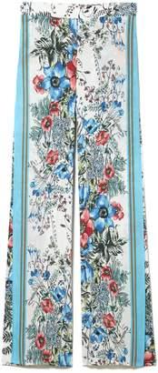 Vince Camuto Floral-print Wrap-front Pants