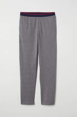 H&M Cotton Jersey Pajama Pants - Gray