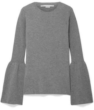 Stella McCartney Ribbed Wool Sweater - Gray