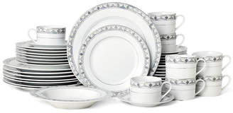 Mikasa Chadwick Grey 40-Pc. Dinnerware Set, Service for 8