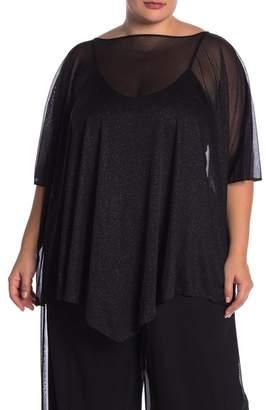 Marina Glitter Cape Top (Plus Size)