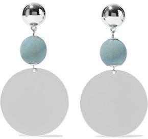 Elizabeth and James Silver-Tone Beaded Earrings