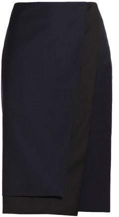 Wool-Twill Wrap Skirt