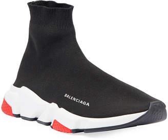 Balenciaga Men's Speed Mid-Top Trainer Sock Sneakers