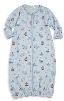 Kissy Kissy Baby's Ahoy There Pima Cotton Converter Gown