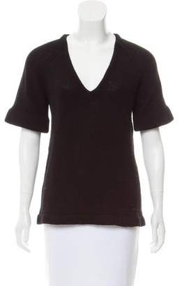 Burberry Cashmere Short Sleeve Top