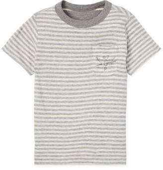 Ralph Lauren Childrenswear Striped Reversible Short-Sleeve Tee, Size 2-4