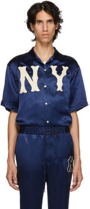 Gucci Blue NY Yankees Edition Patch Shirt