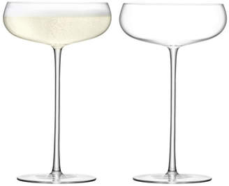 LSA International Set Of 2 Wine Culture Champagne Glass Saucers