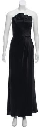 ABS by Allen Schwartz Satin Strapless Dress