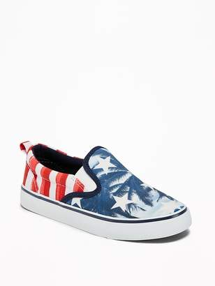 Old Navy Printed Canvas Slip-Ons for Boys