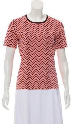 Apiece Apart Short Sleeve Patterned Top