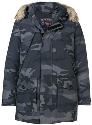 Woolrich camouflage print parka