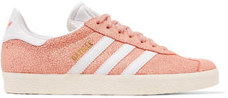 adidas Gazelle Cracked-suede Sneakers - Peach