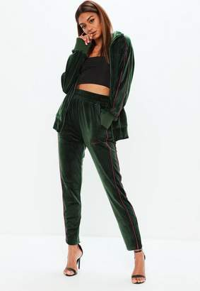 Missguided x Green Velour Joggers
