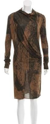 Edun Printed Knee-Length Dress